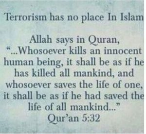 islam is a religion of peace but not terrorism